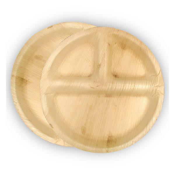 Compartment Palm Leaf Plates
