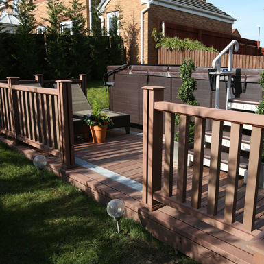Composite Wood balustrade fencing and railings
