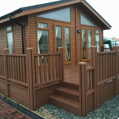 Composite Wood caravan decking and fencing