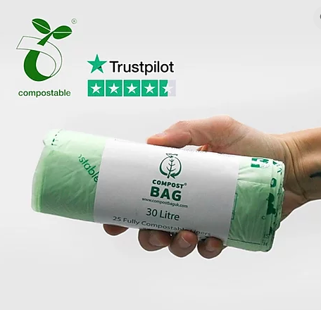 Compostable Bin Liners 30 litres (25 bags)