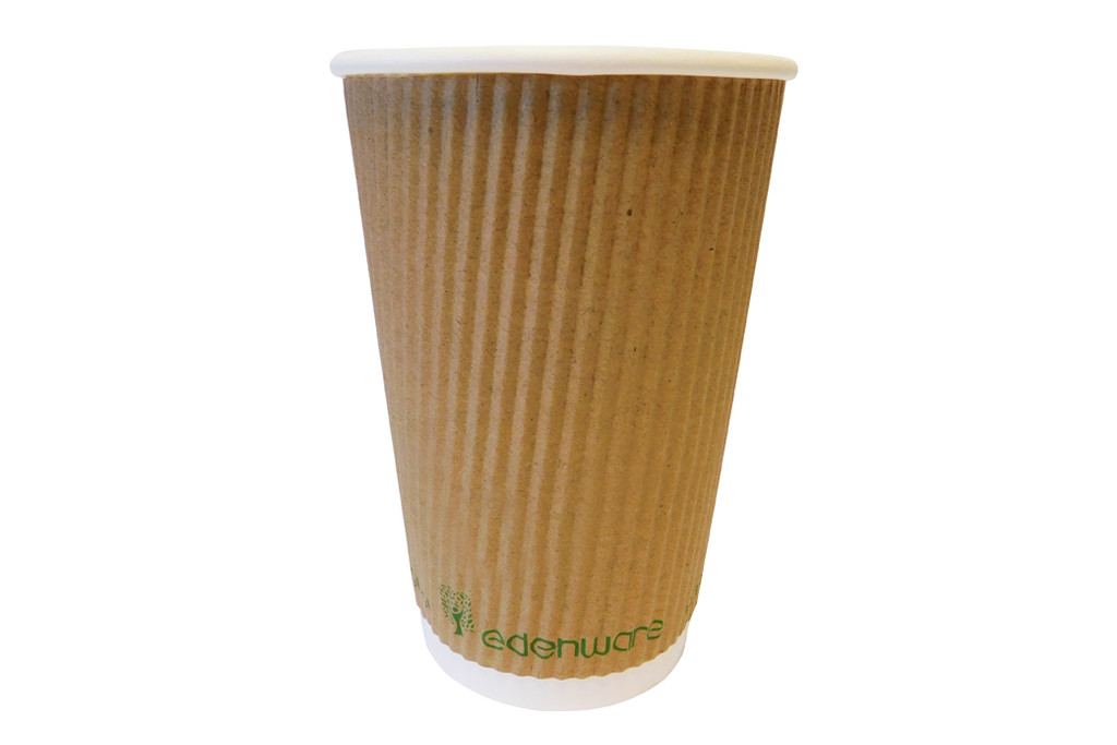 Compostable Cups – Triple Ripple Kraft