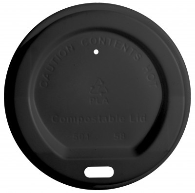 Compostable Lids – Black