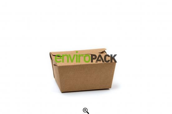 Compostable Paperboard Food Boxes #1 Kraft