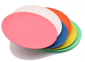 Compostable PLA Plate With Various Colors