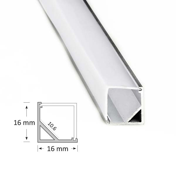 Corner Extrusion with Angled Diffuser