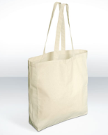 Cotton Bags – Gusseted Long Handle