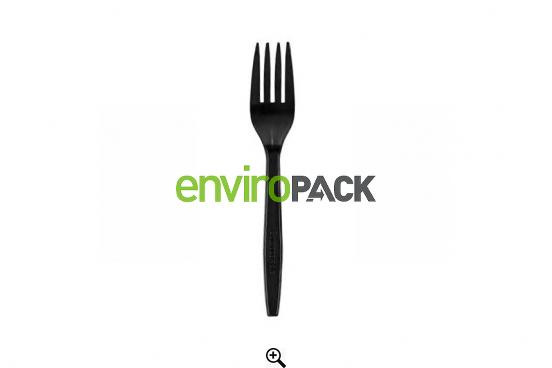 CPLA Compostable Forks Black