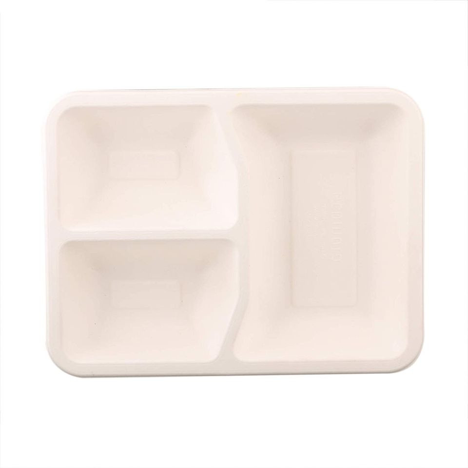 Disposable 3-Compartment Tray