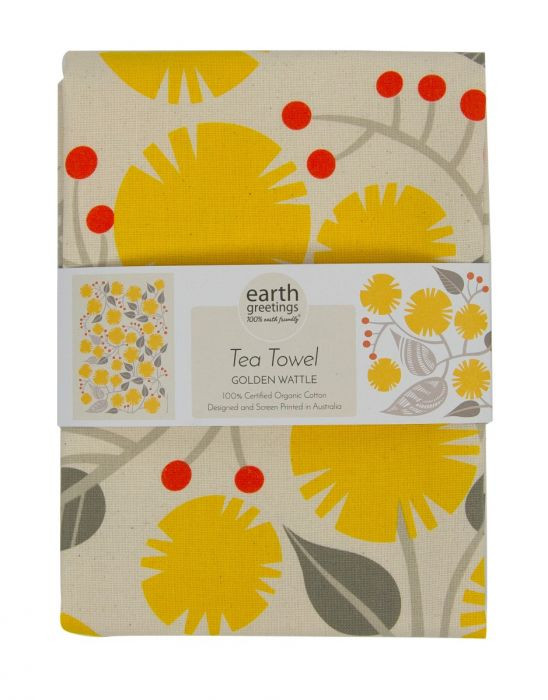 Earth Greetings Organic Cotton Tea Towels