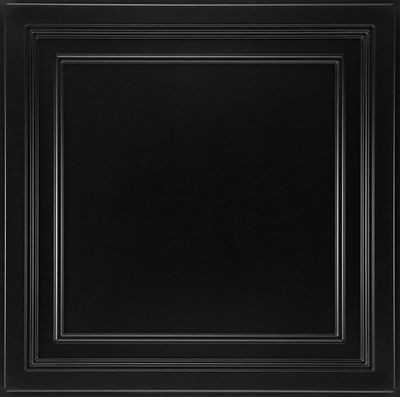 "EASY ELEGANCE Shallow Coffer Black 24"" x 24"