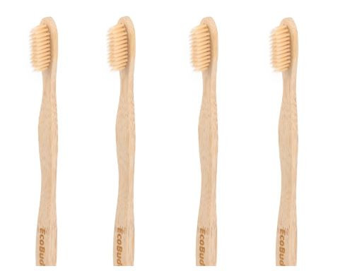 Eco Buddy Bamboo Fibre Extra Soft Bristles Bamboo Toothbrushes- Pack of 4