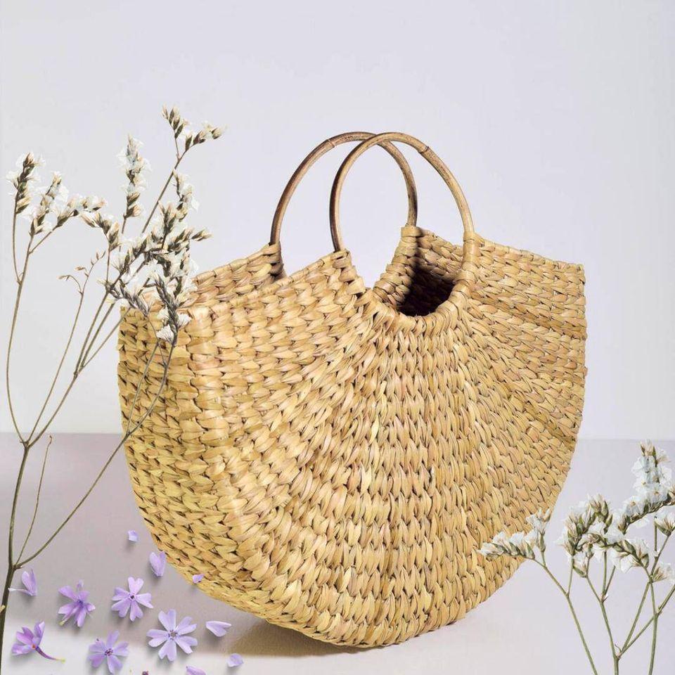 Eco Friendly  Handmade Water Reed Hand Bag