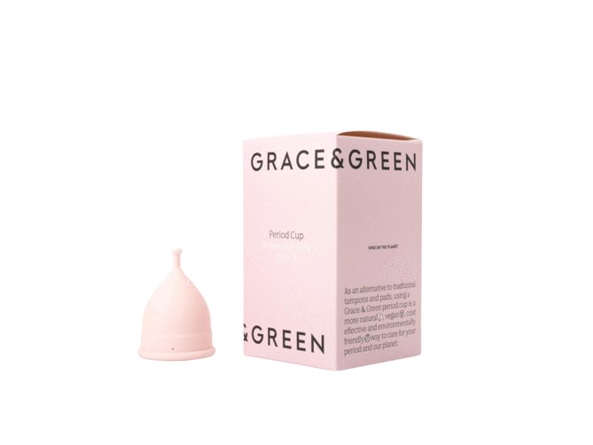 Eco & Natural Period Cup - Pink - Grace and Green