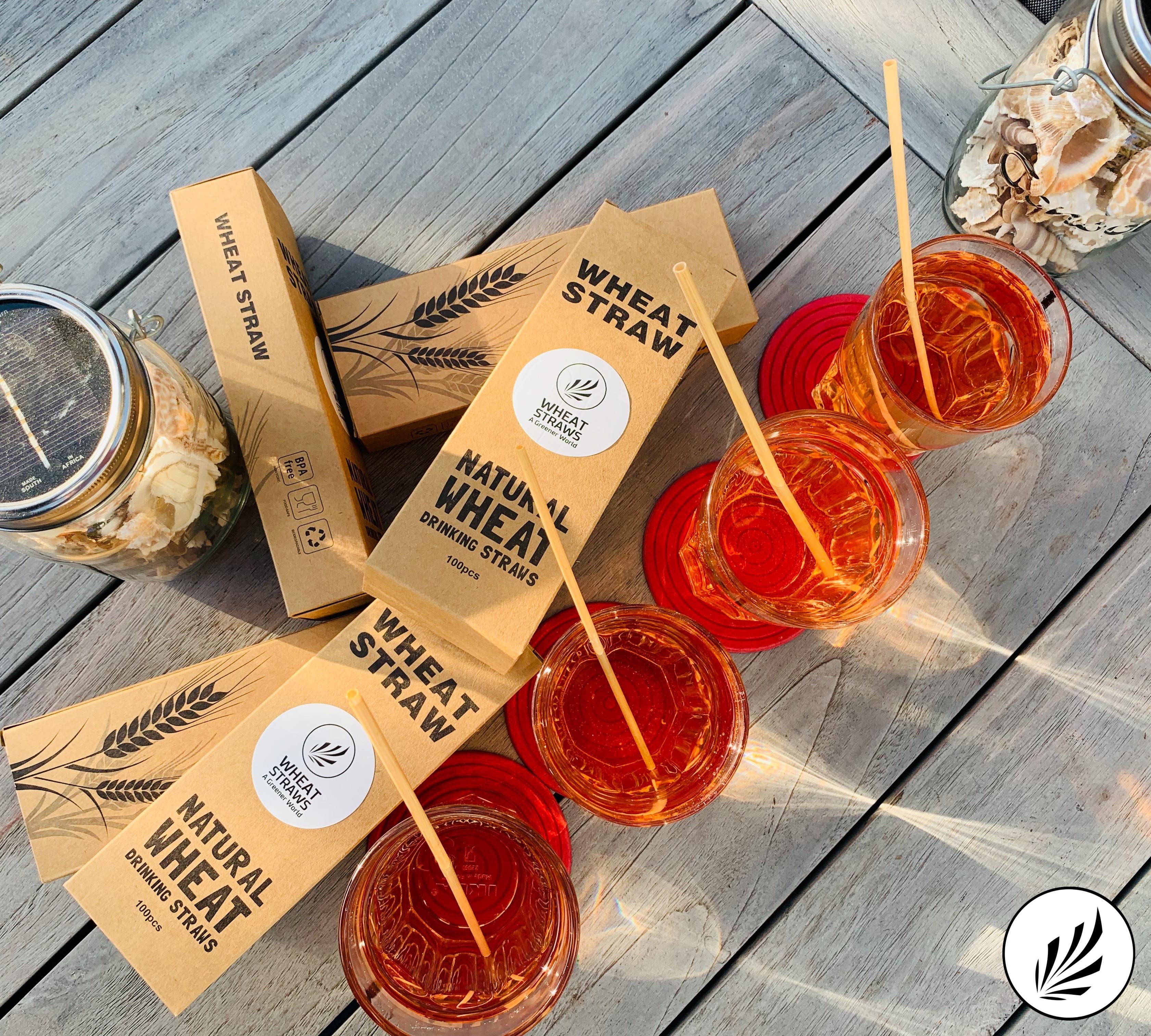 ECO Wheat drinking straws - 20cm - 100pcs