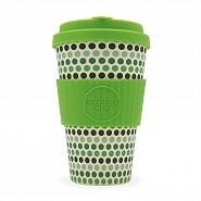 "Ecoffee Reuseable Cup ""Green Polka"" Design"