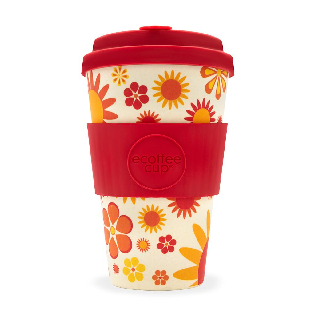 "Ecoffee Reuseable Cup ""Happier"" Design"