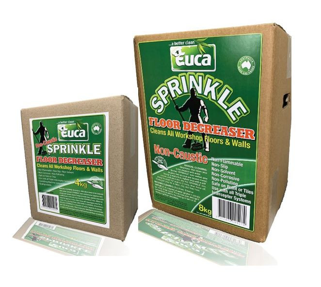 Euca Sprinkle Powder Floor Degreaser Cleaner.