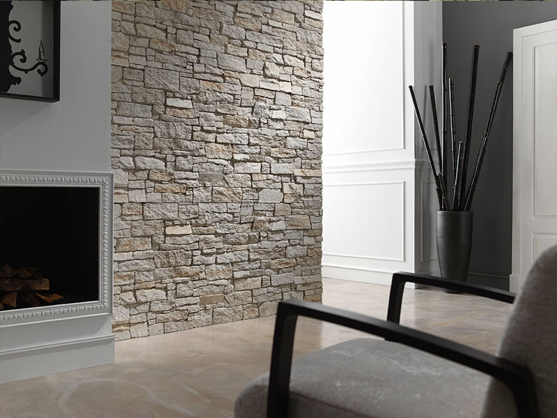 Faux Stone Wall Panelling