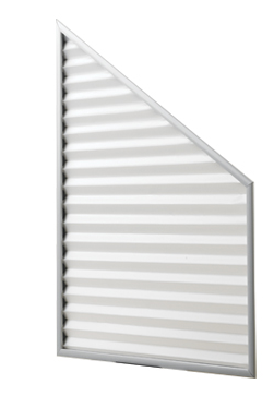 Fixed Frame Pleated Blind