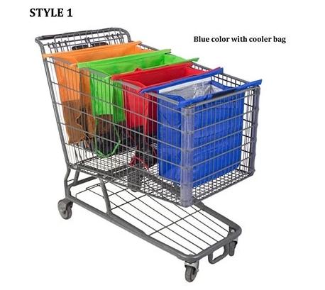 FOLDABLE REUSABLE SHOPPING BAGS 4PCS/SET