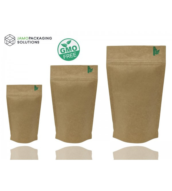 Fully Biodegradable High Barrier Stand Pouch with Zip Lock