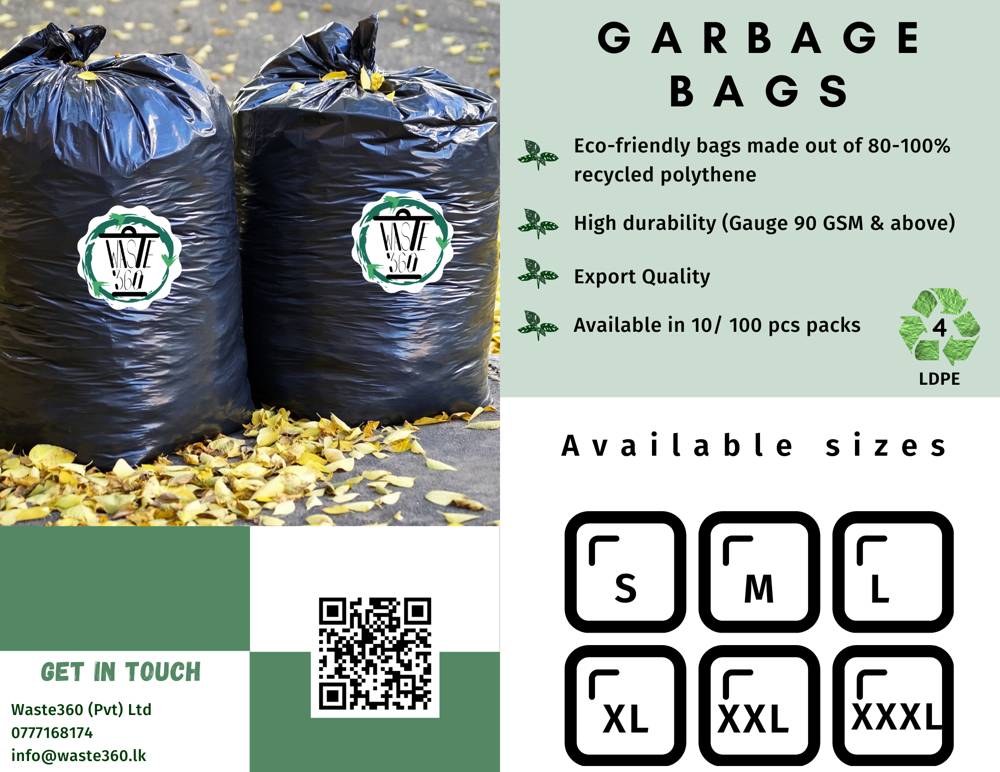 Oxo-Biodegradable Garbage Bags