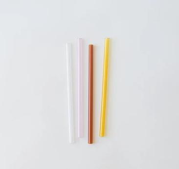 Glass Straws, Set of 4