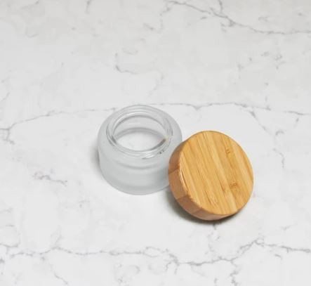 Glass Tooth Powder Container
