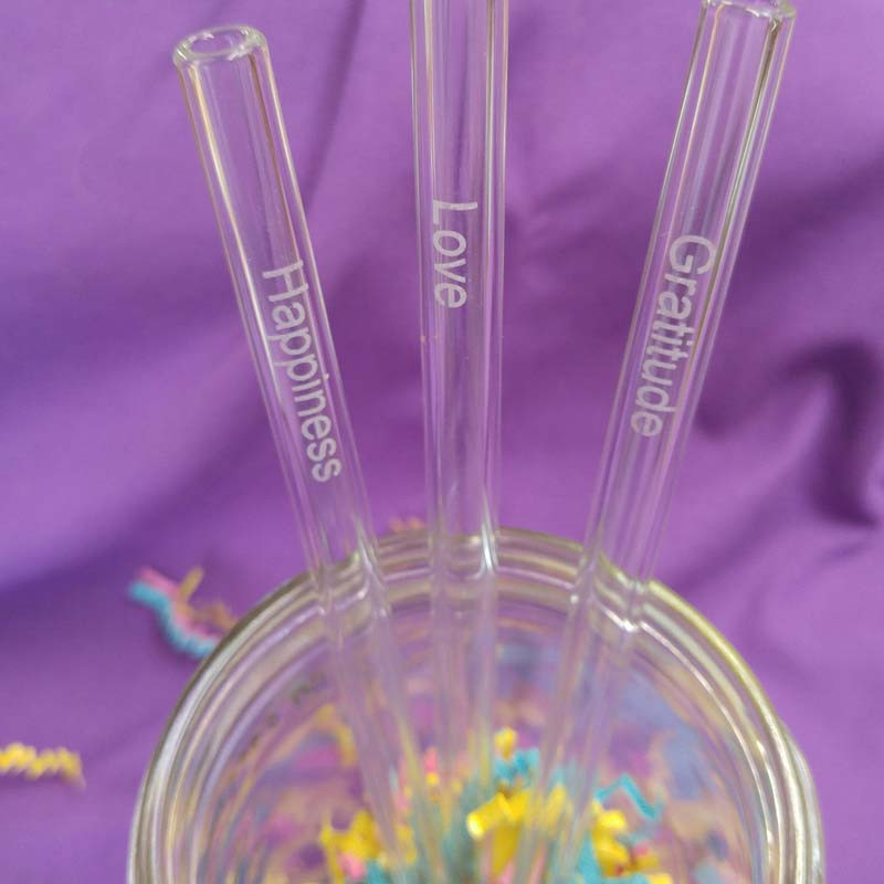 GlassDharma Inspirational Glass Straw