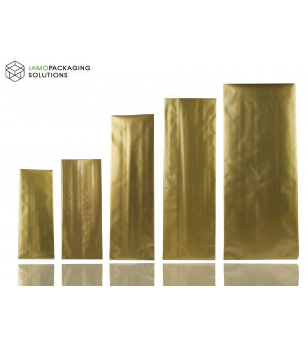 Gold Aluminium Side Gusset Pouch