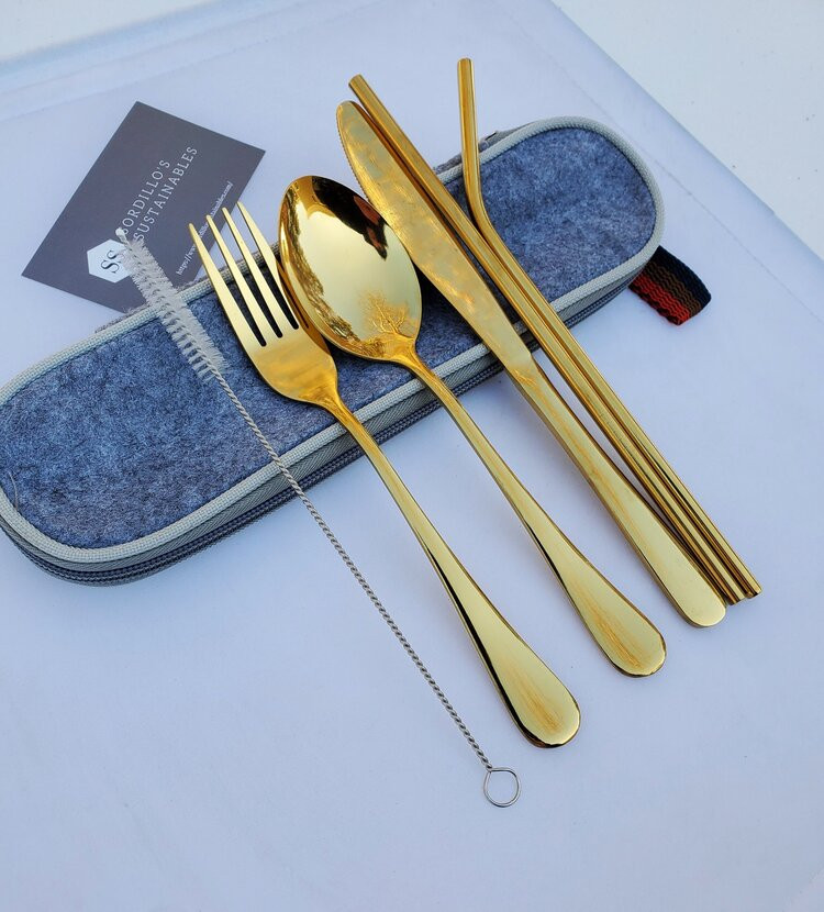 Gold Stainless Steel Flatware Set