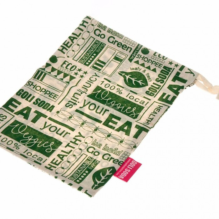 Goli Soda Go Green Reusable Cotton Produce Bag For Fruits And Vegetables