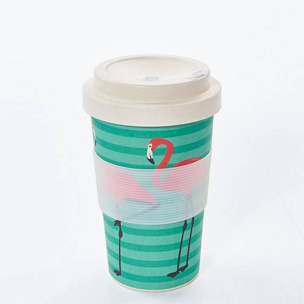GREEN FLAMINGO BAMBOO CUP PACK OF 3