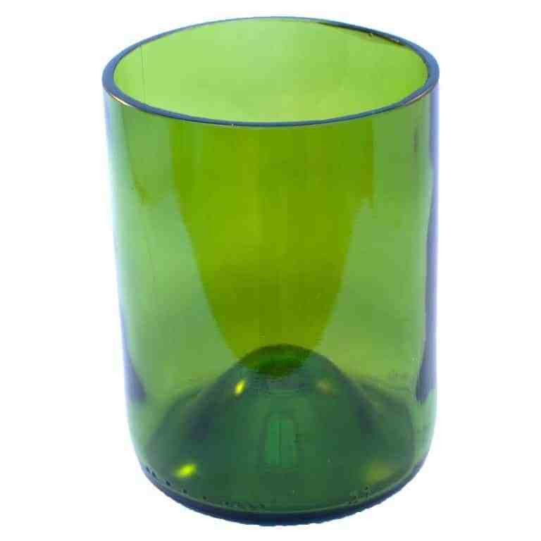 Green Wine Bottle Drinking Glass
