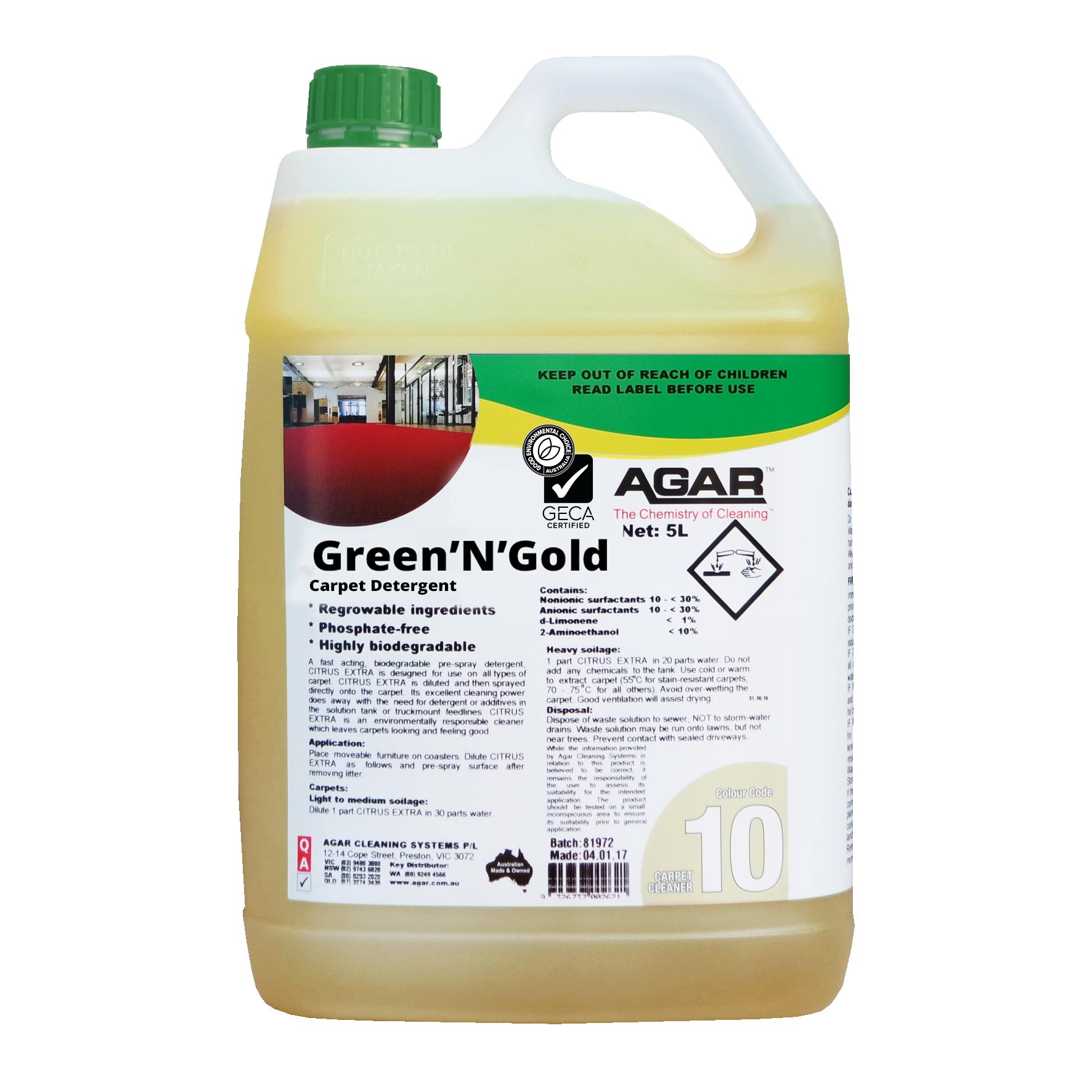 Green'N'Gold Carpet Detergent