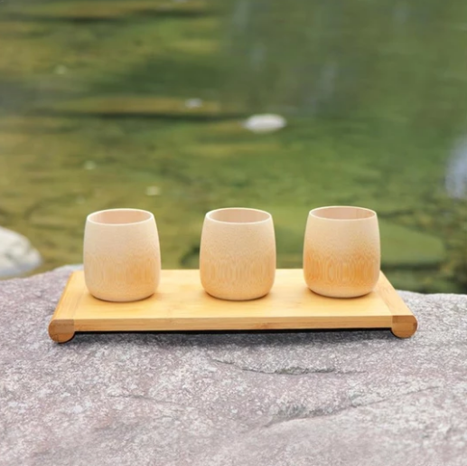 Hand Made Bamboo Cups