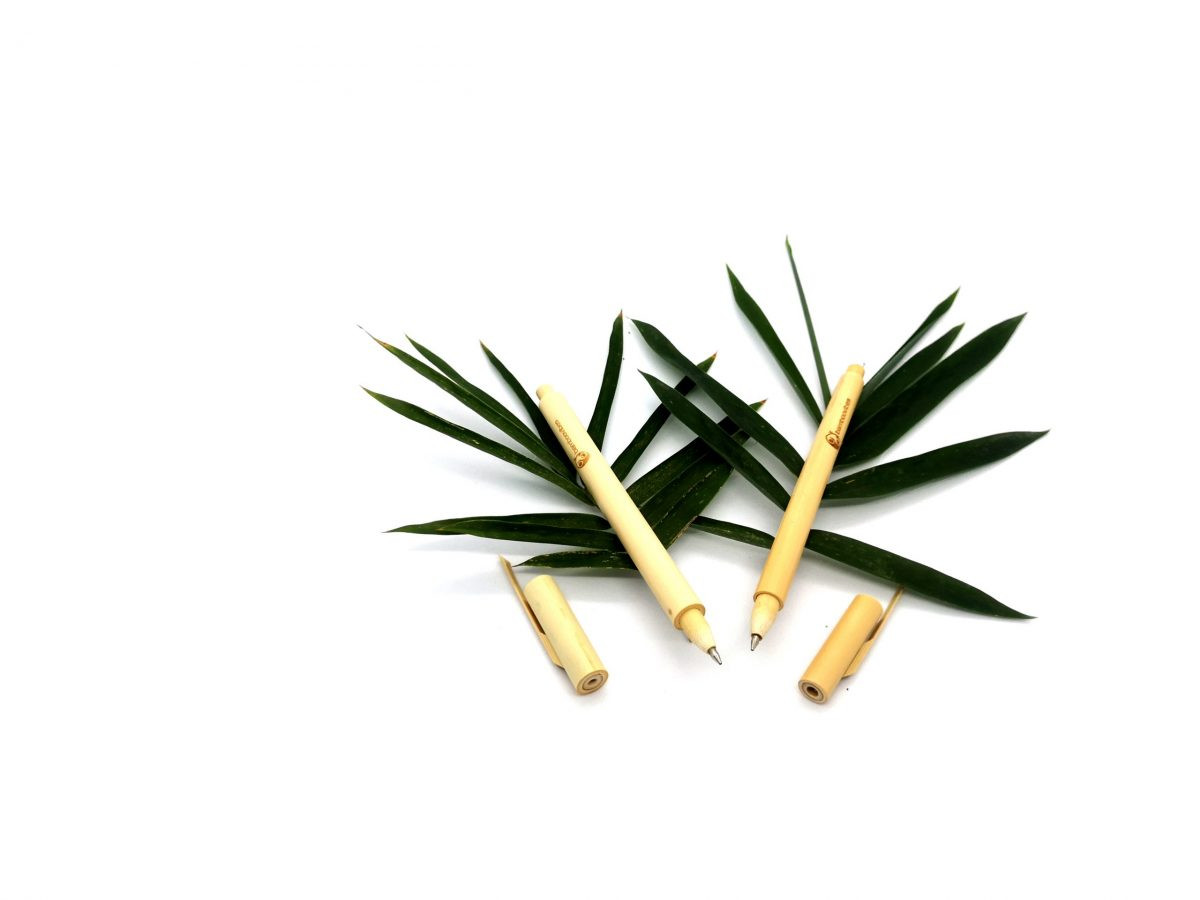 Handmade Bamboo Ballpoint Pens Set of 2