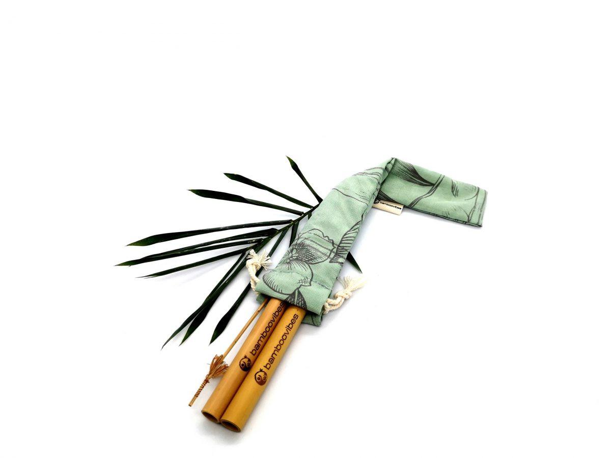 Handmade Bamboo Straws Travel Set of 2