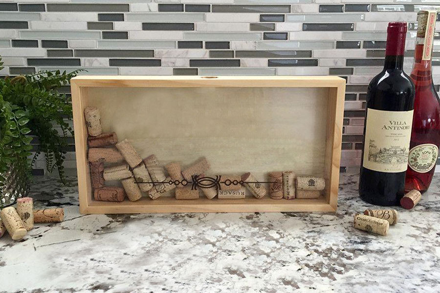 High quality wall hanging wooden shadow box frame
