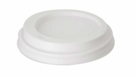 Hot Cup Lid – White – 8oz/240ml
