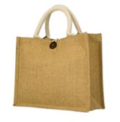 Jute Bags – Short Cotton Web Handle (with Gusset)