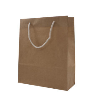 Kraft Gift Bags With Two Rope Handles (Reinforced Top & Base) #M