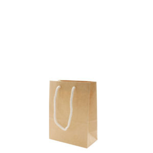 Kraft Gift Bags With Two Rope Handles (Reinforced Top & Base) #XS