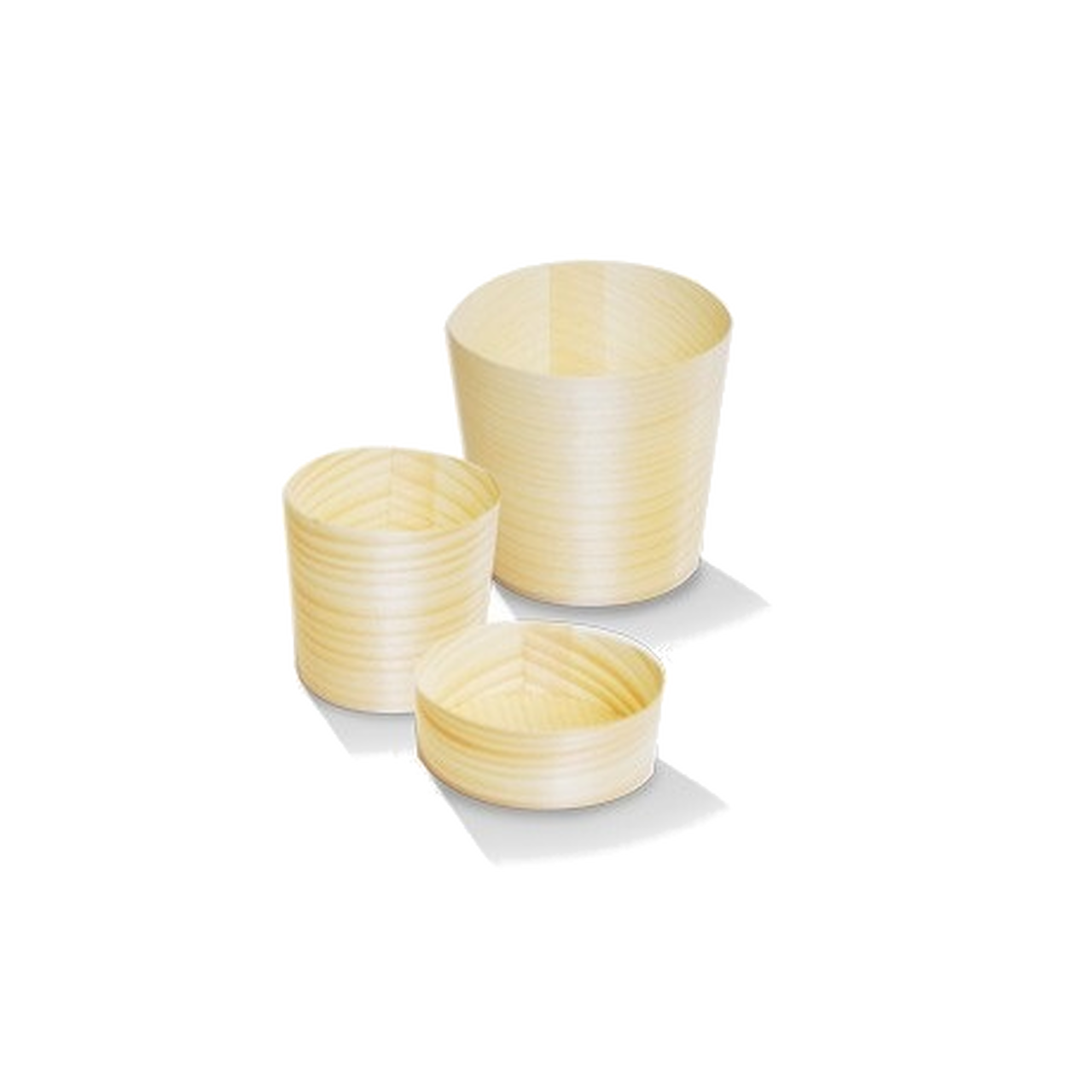 Large Wooden Gourmet Pine Cups
