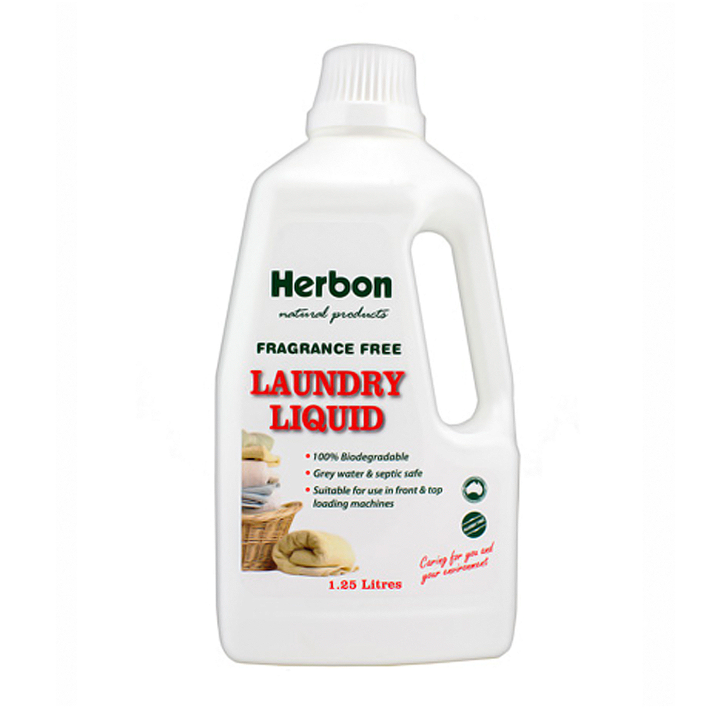 Laundry Liquid 1.25Lt Fragrance Free