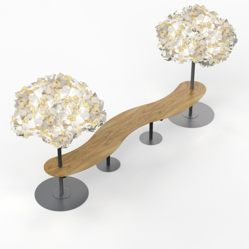 Leaf Lamp Metal Tree & Seamless Table