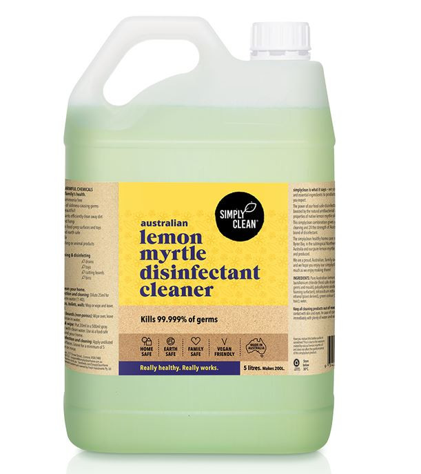 LEMON MYRTLE DISINFECTANT CLEANER - 5 LITRES BUL