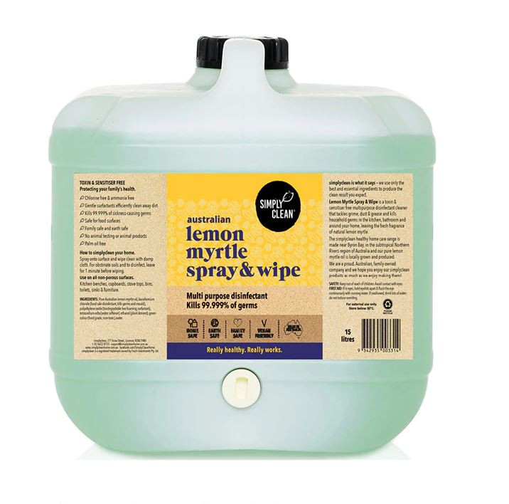 LEMON MYRTLE SPRAY & WIPE - 15 LITRES BULK