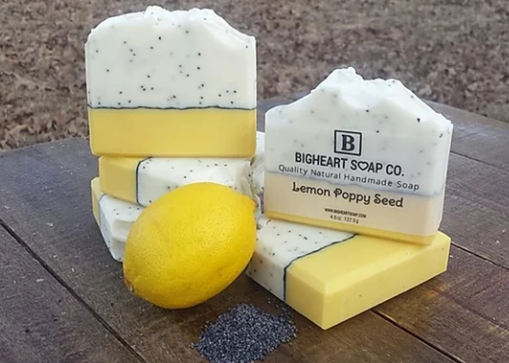 Lemon Poppy Seed All Natural Soap Bar