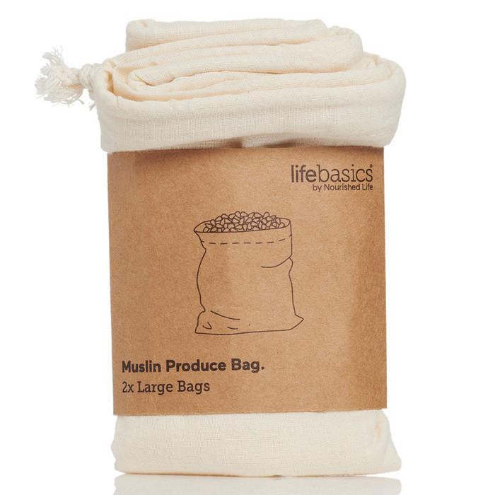 Life Basics Muslin Produce Bags